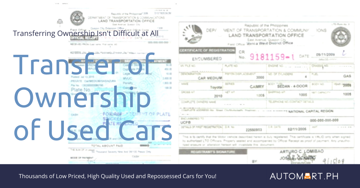 Transferring Ownership of Used Cars in the Philippines