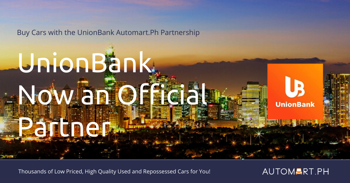 Automart.Ph now has Repossessed cars from Unionbank of the Philippines