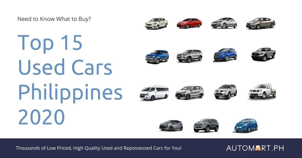 Top 15 Best and Most Popular Used Cars in the Philippines for 2020