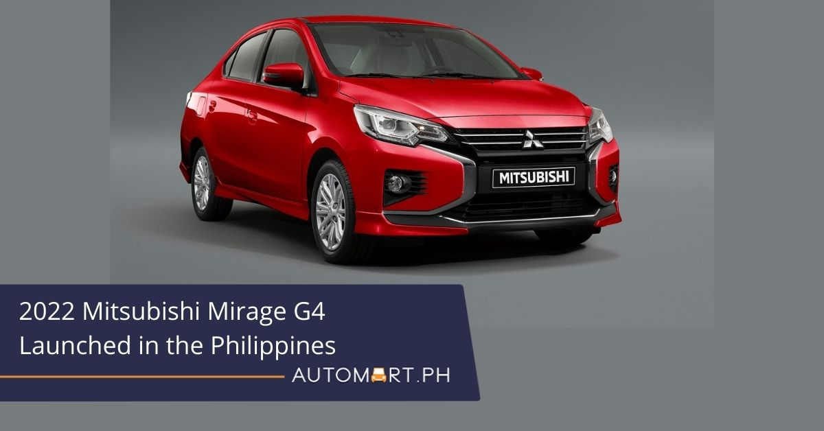 2022 Mitsubishi Mirage G4 Launched in the Philippines
