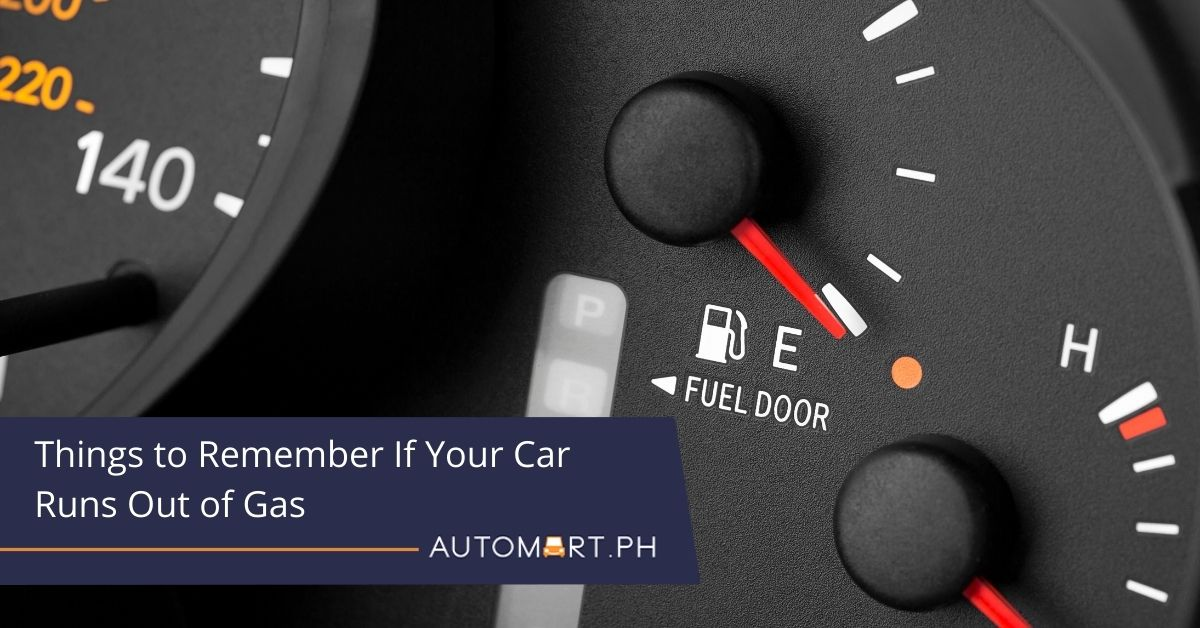 Things to Remember If Your Car Runs Out of Gas
