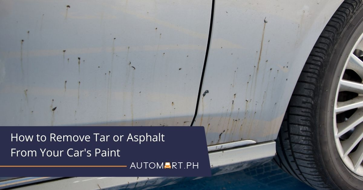 How to Remove Tar or Asphalt From Your Car's Paint