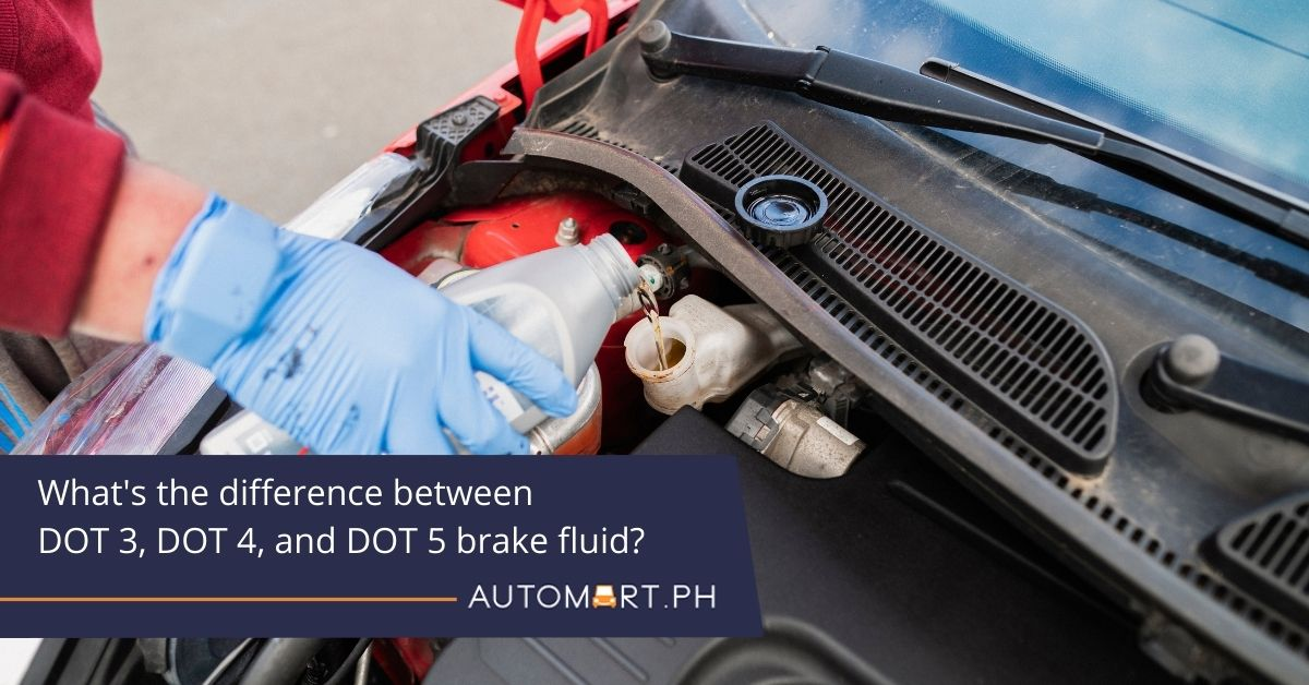 What's the difference between DOT 3, DOT 4, and DOT 5 brake fluid?