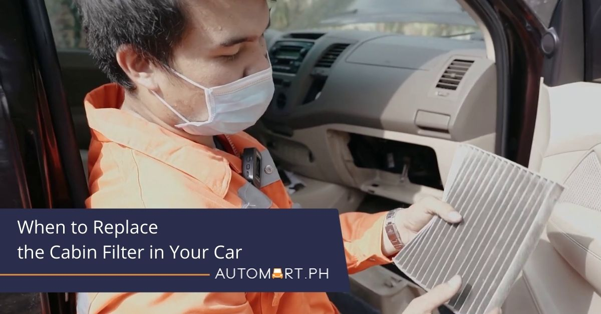 When to Replace the Cabin Filter in Your Car